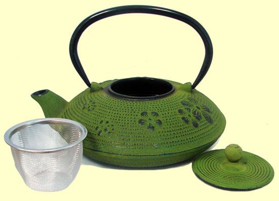 Tetsubin tetera de hierro fundido verde signes grimalt - Tetera japonesa hierro fundido ...